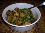 Spinach-Rice Pot with Sauteed Squash
