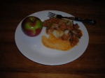 Hamburger Pie and Apple